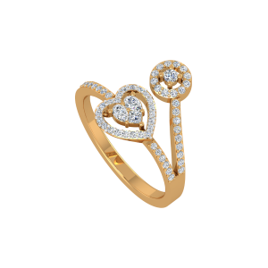 Dance Your Heart Out Gold Diamond Ring