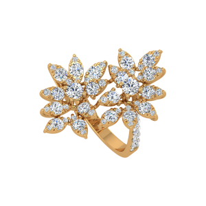 The Glimmer Glam Gold Diamond Ring