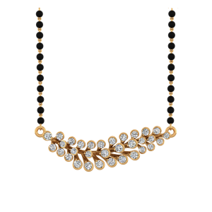 The Garden Moment Mangalsutra With Black Beads Gold Chain