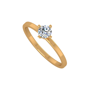 The Little Solitaire Gold Diamond Ring
