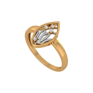Leaf Of Life Gold Diamond Ring