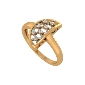 The WOW Factor Gold Diamond Ring