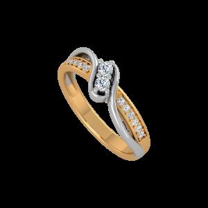 You & I Gold Diamond Ring