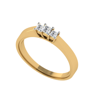 The Salient Princess Cut Diamond Ring