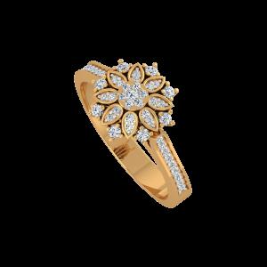 The True Blossom Gold Diamond Ring