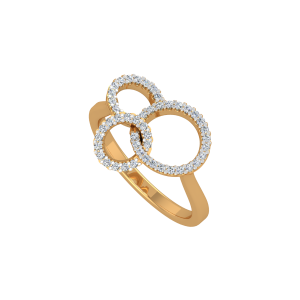 Golden Triology Gold Diamond Ring