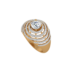The Solitaire Staircase Gold Diamond Ring
