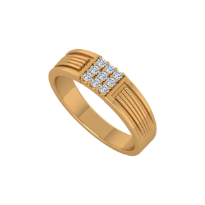 Mid Way Men's Gold Diamond Ring