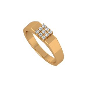 Evergreen Flair Men's Gold Diamond Ring