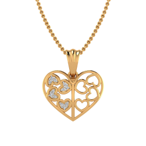The Disco Hearts Diamond Pendant