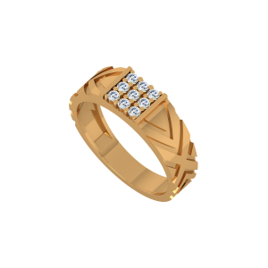 Any Ways Men's Gold Diamond Ring