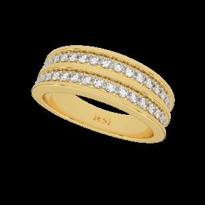 The Twin Trend Half Eternity Diamond Ring