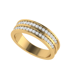 The Twin Trend Half Eternity Diamond Ring
