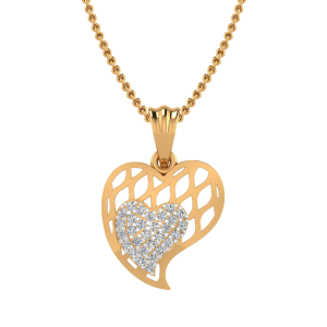 The Heart of Heart Diamond Pendant