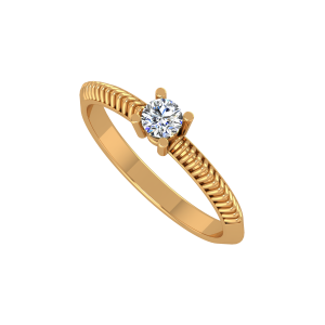 The Solitaire Shift Gold Diamond Ring