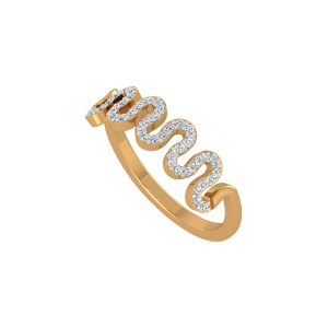 The Euphoria Gold Diamond Ring