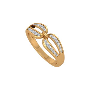 Stay Connected Gold Diamond Ring