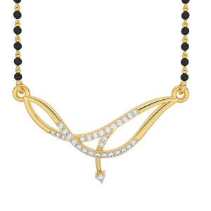 Happiness Mangalsutra With Black Beads Gold Chain