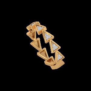 Vivid We Gold Diamond Ring