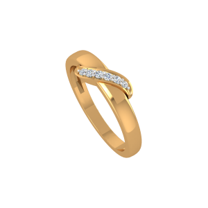 The White Glace Gold Diamond Ring