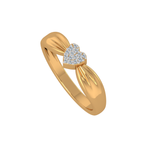 The Sweetest Heart Gold Diamond Ring