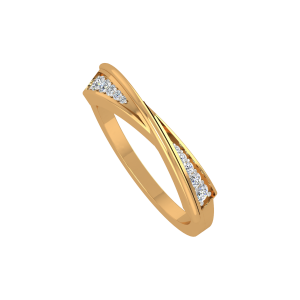 The Sweet Sleek Gold Diamond Ring