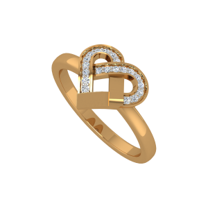 The Soulmate Gold Diamond Ring
