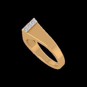 The Golden Flair Gold Diamond Ring