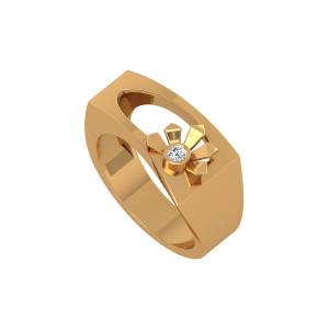 The Fashion-Floral Gold Diamond Ring