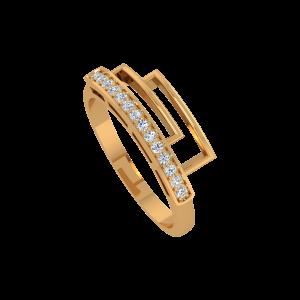 Diamonds Dual Framed Gold Diamond Ring