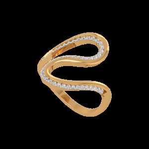The Spotlights Gold Diamond Ring