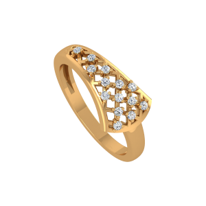 The Stars Ally Gold Diamond Ring