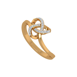 The 3D Trend Gold Diamond Ring