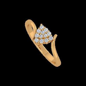 The Trillion Trend Gold Diamond Ring
