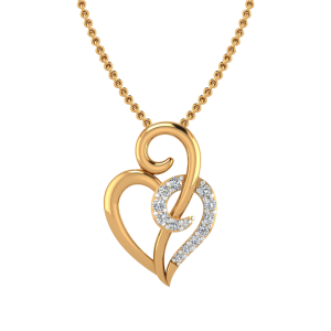 The Heart Beat Diamond Pendant