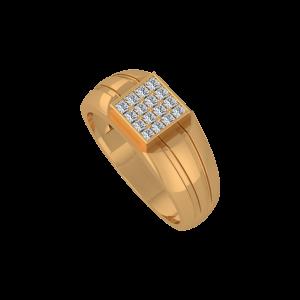 Golden Courtyard Gold Diamond Ring