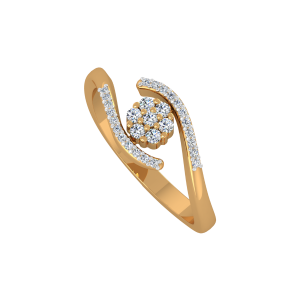The Floral Orb Gold Diamond Ring