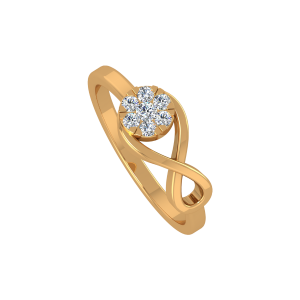 The Infinite Lounge Gold Diamond Ring