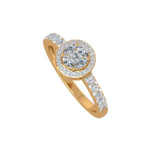 The Pirouette Gold Diamond Ring