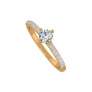 The Solitaire Sway Gold Diamond Ring
