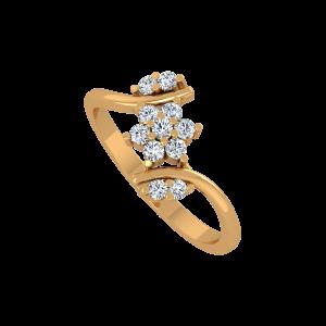 Pluck Me Gold Diamond Ring