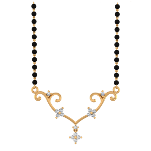 Awestruck Mangalsutra With Black Beads Gold Chain