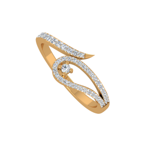 The Glimmer Wink Gold Diamond Ring