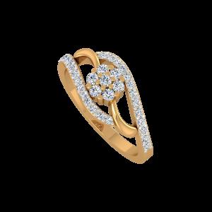 The Beauty Full Gold Diamond Ring
