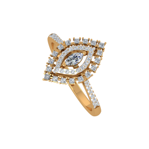 The Marquise Mark Gold Diamond Ring