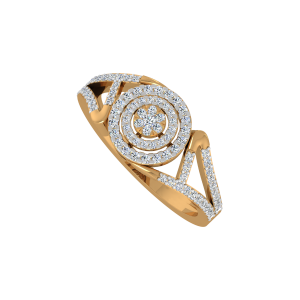 The Allure Suave Gold Diamond Ring