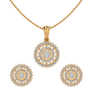 The Sunburst Light Diamond Pendant Set