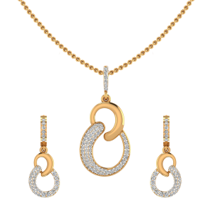 The Funky Groove Diamond Pendant Set