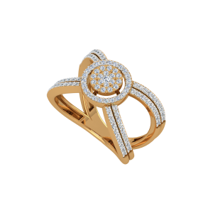 The Crossover Bridge Gold Diamond Ring