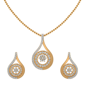 The Drop Flaunt Diamond Pendant Set